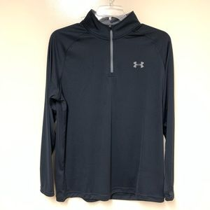 Black Under Armour 1/4 Zip Pullover HeatGear Large